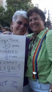 Alison and Sandy, At the March